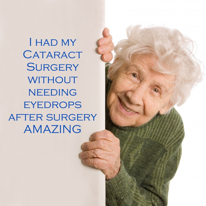 I had my cataract surgery without needing eyedrops after surgery